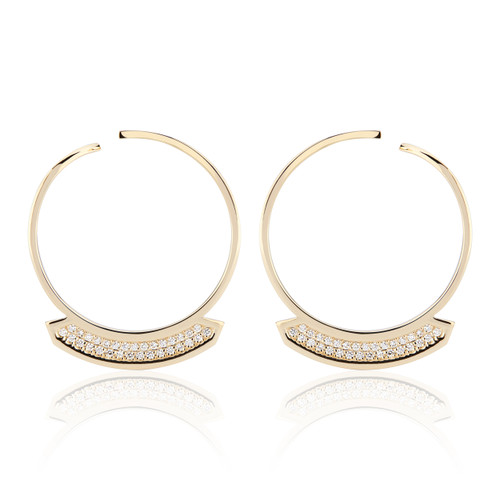 Stellara Diamond Hoop Earrings