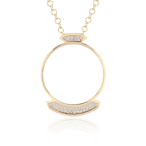 Stellara Diamond Necklace in yellow gold