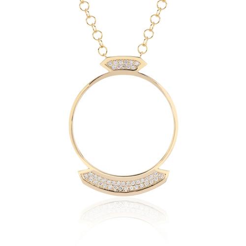 Stellara Diamond Necklace in yellow gold