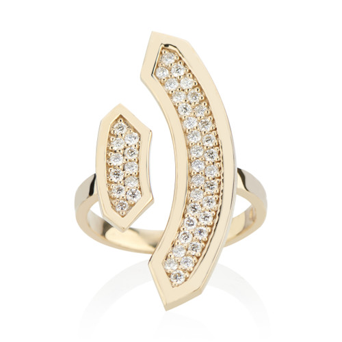 Stellara Ring with Diamonds in 14K Yellow Gold