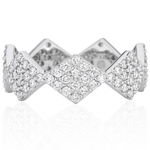 Lucia Full Pave Band with Diamonds in 14K White Gold