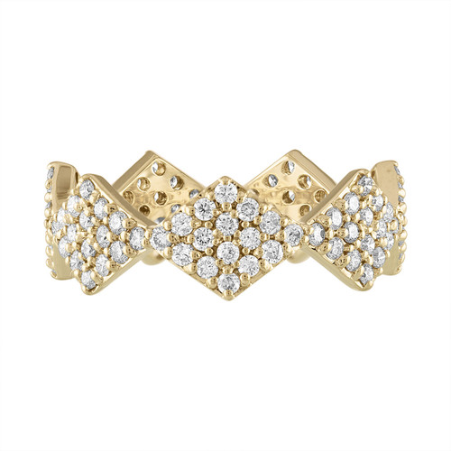 Lucia Full Pave Band with Diamonds in 14k Yellow Gold