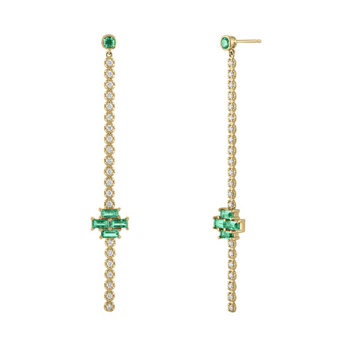 Gia Deco Stick Earring