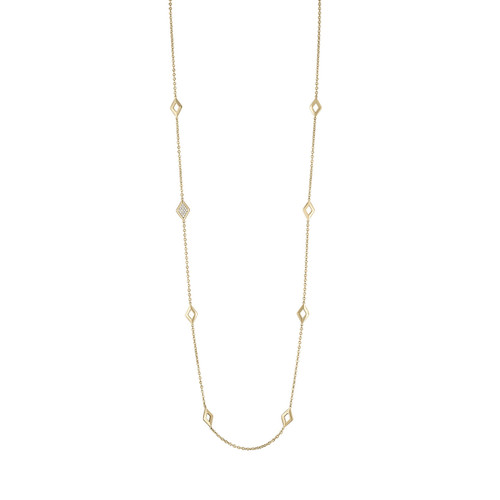 Lucia 8 station Necklace with Diamonds