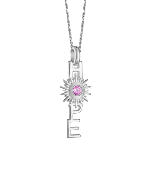 Horizon Hope Charm on diamond cut Silver chain