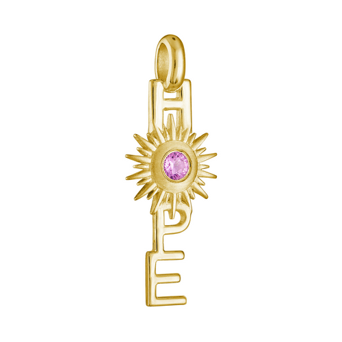 Horizon Hope Charm in 14k Yellow Gold