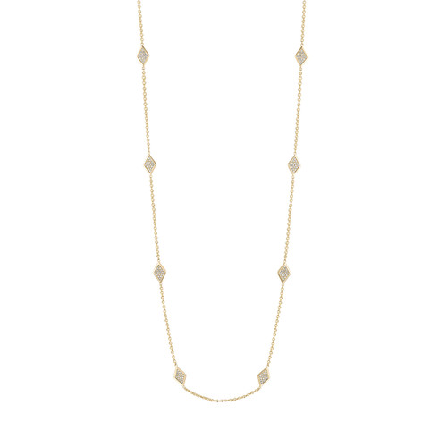 Lucia Diamond 8 Station Necklace
