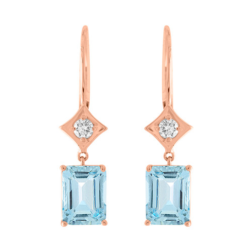 Regalo Aquamarine and diamond drop earrings