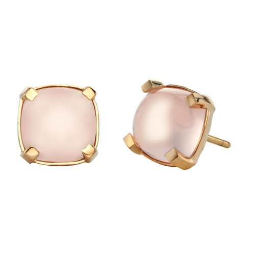 Dolce Studs in Rose Quartz