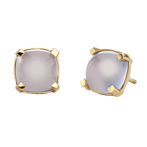 Dolce Stud Earrings in  Pale Blue Chalcedony