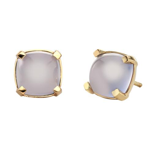 Dolce Stud Earrings in  Pale Blue Chalcedony