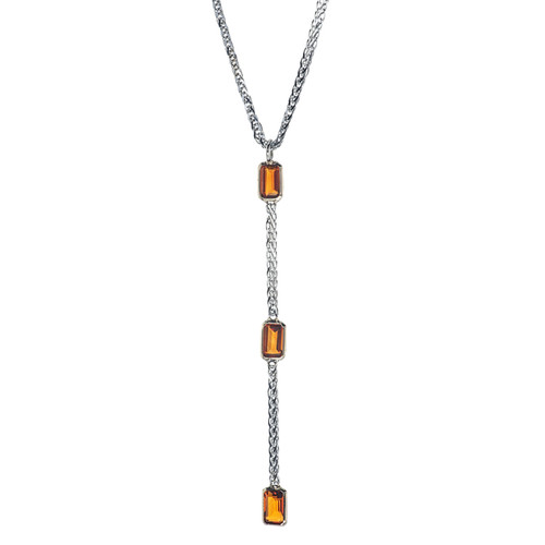 Simplicity Y Necklace in Citrine