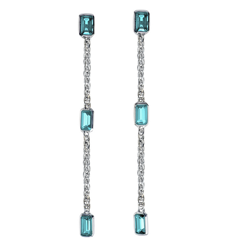 Simplicity Drop Earrings with Aquamarine