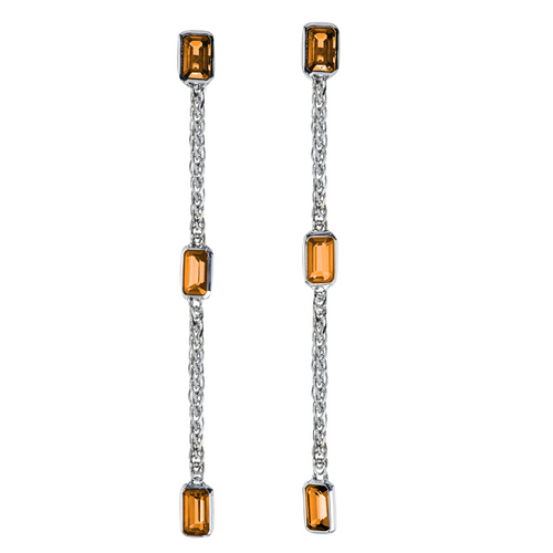 Simplicity Drop Earrings with Citrine
