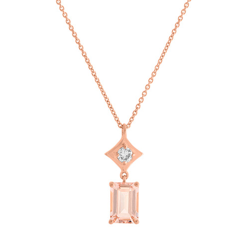 Regalo Morganite Drop Pendant