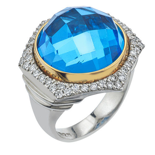 Bianca Ring with Blue Topaz