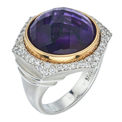 Bianca Ring with Amethyst