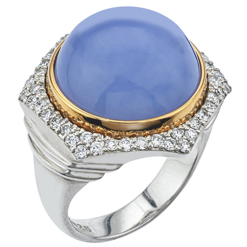 Bianca Ring with Chalcedony