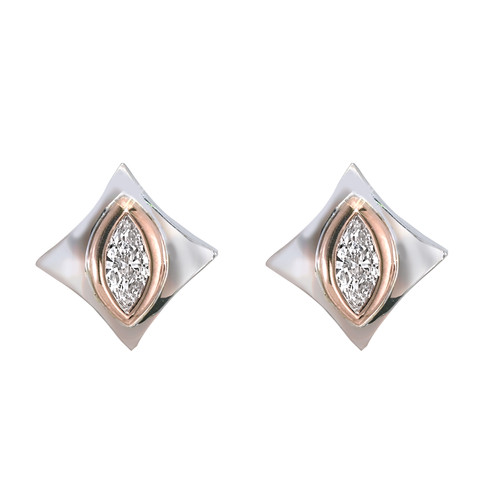 Regalo Marquise Diamond Stud Earring