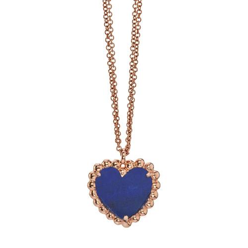 Beaded Hearty pendant with Lapis Lazuli