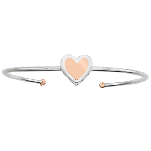 Bold heart cuff in rose gold