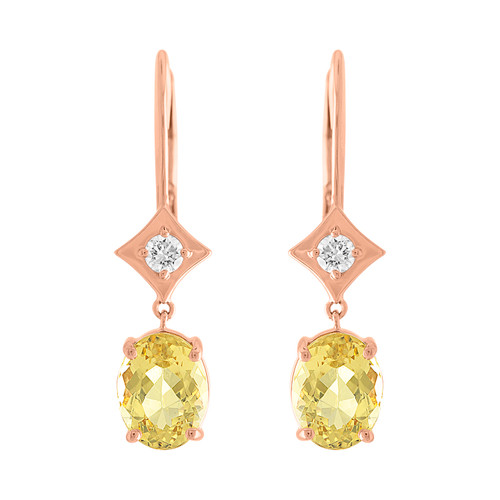 Regalo Yellow Beryls Drop Earrings