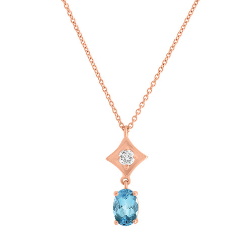 Regalo Aquamarine Drop Pendant