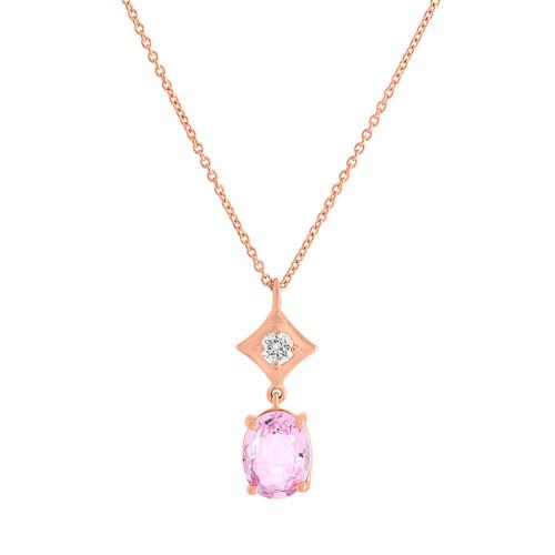 Regalo Pink Sapphire Drop Pendant