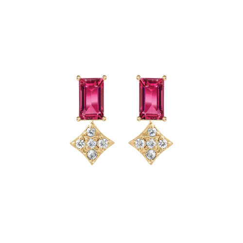 Gianna Pink Tourmaline Stud Earrings