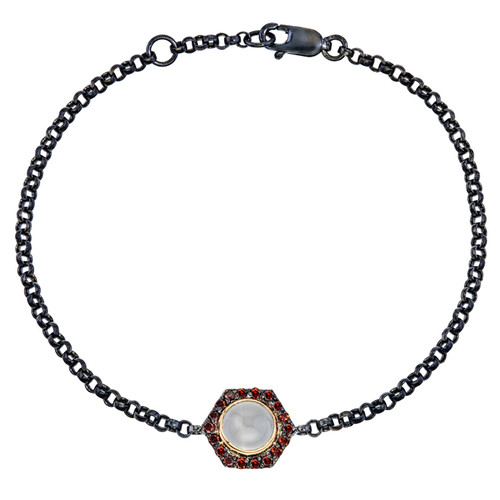 Bianca chain bracelet with moonstone