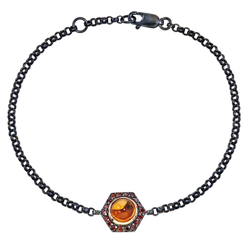 Bianca chain bracelet with citrine