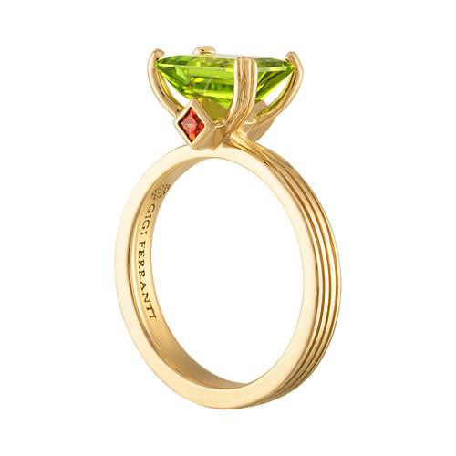 Portofino Paradise ring with Peridot and Sapphire