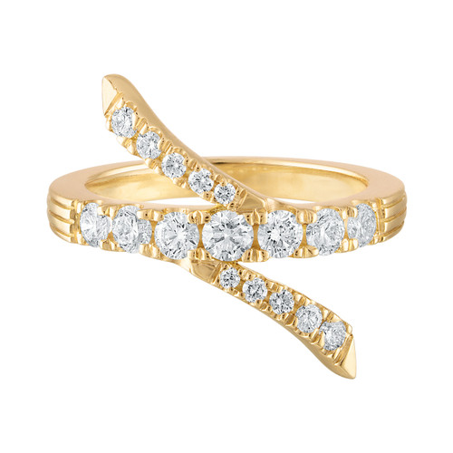 Portofino Diamond Twist Ring