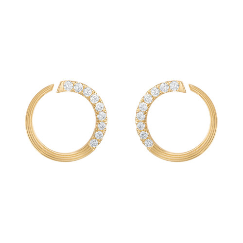 Portofino  Diamond Hoop Earrings