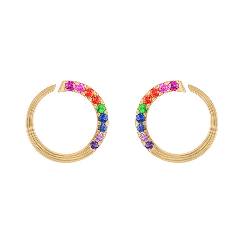 Portofino Sapphire Hoop Earrings