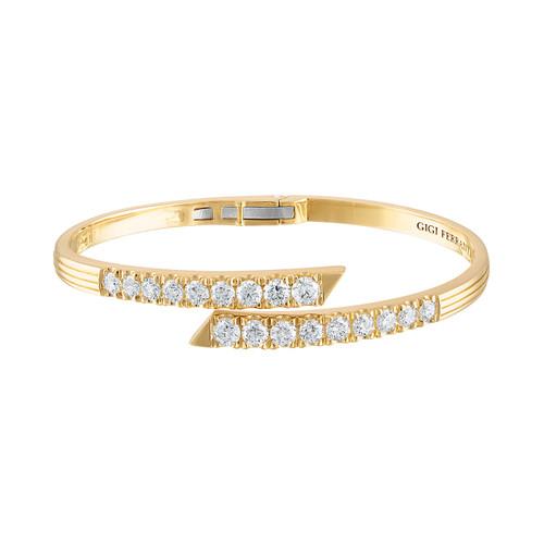 Portofino  18k Gold Diamond Hinged Cuff