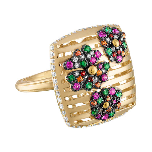 Portofino Flower Garden Ring