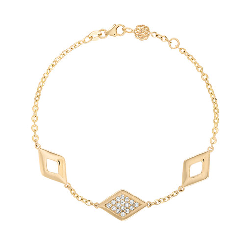 Lucia  Diamond Three Station Bracelet