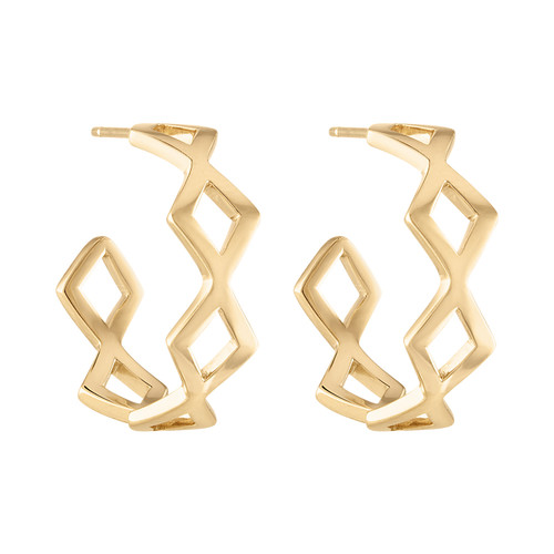 Lucia Yellow Gold Hoop Earring