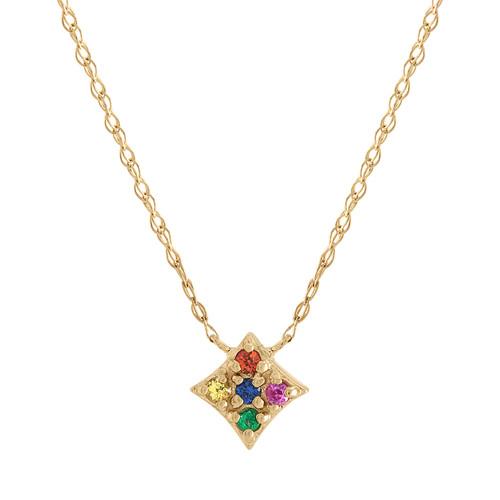 Essentials Pendant with Rainbow Gems