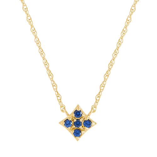Essentials Pendant with Blue Sapphire
