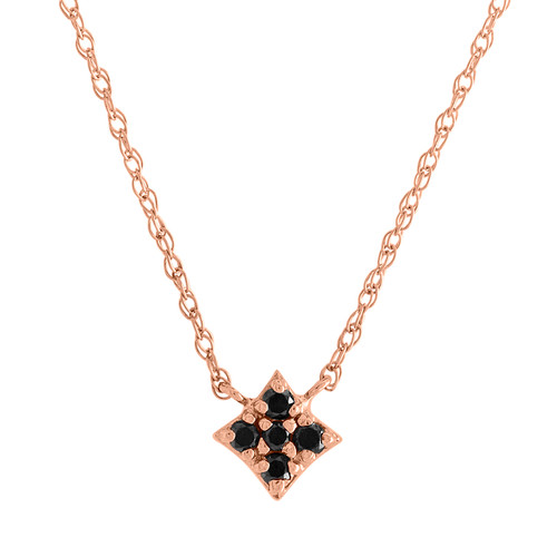 Mini Gianna Black Diamond Pendant