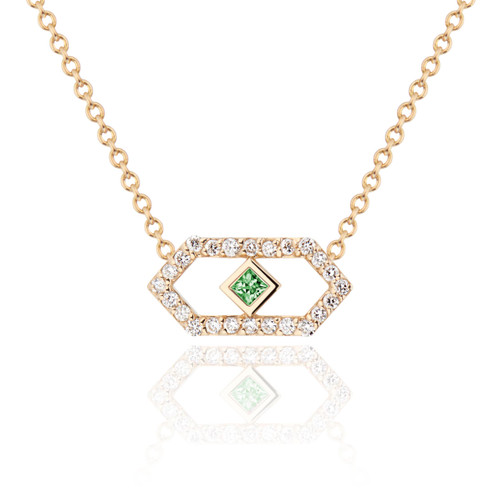Gianna Petite Pendants with Diamonds and Green Sapphire
