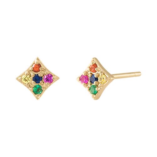 Essentials Stud Earrings in Rainbow
