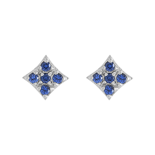 Gianna Mini Stud Earring with Blue Sapphire