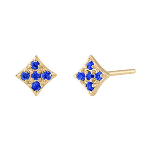 Essentials Stud Earring in Blue Sapphire