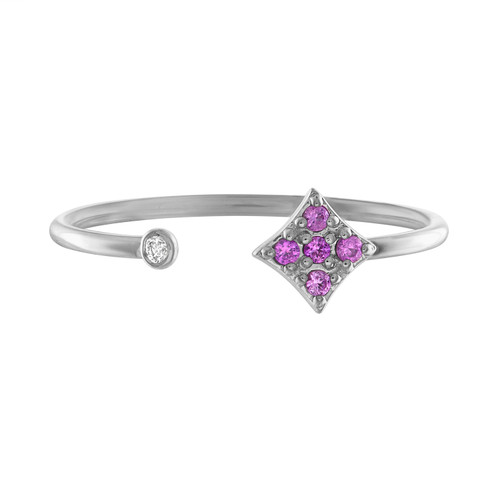 Gianna Open Ring with Pink Sapphire