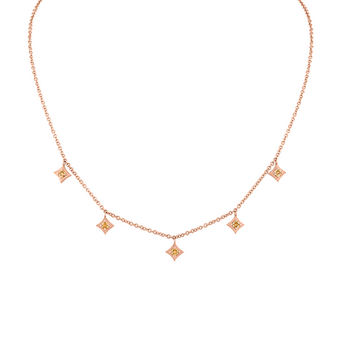 Regalo Dangle Choker with Champaign Diamonds