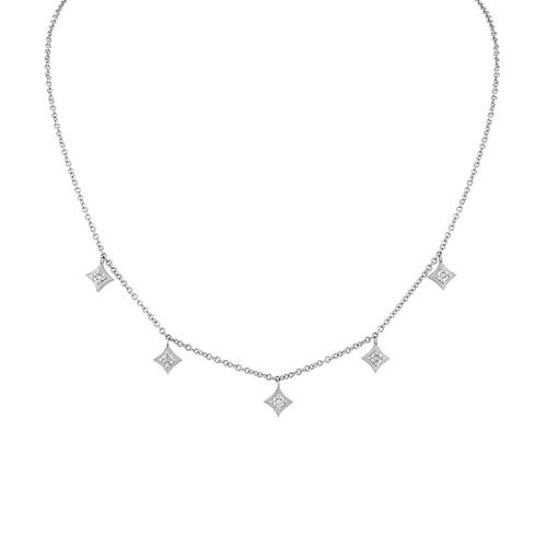 Regalo Dangle Choker with White Diamonds