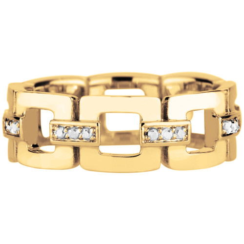 Marcello  Eternity Band with Diamonds in 18K Gold